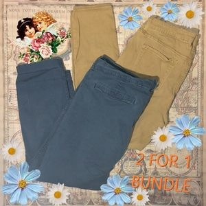Old Navy Khaki Skinnies & Navy Chinos Bundle